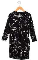 Nununu Girls' Paint Splatter High-Low Dress
