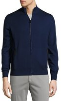 Loro Piana Braintree Cashmere-Silk Bomber Sweater