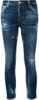 DSQUARED2 Boyfriend distressed cropped jeans - women - Cotton/Spandex/Elastane - 40