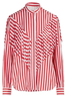 MSGM Fringed shirt