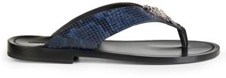 Roberto Cavalli Leather Slide Sandals