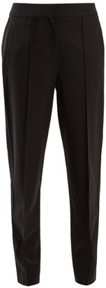 Proenza Schouler Tapered-leg Wool-blend Trousers - Black