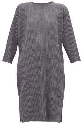 Pleats Please Issey Miyake Tech Pleated Jersey Dress - Womens - Grey