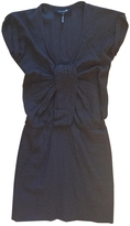 Isabel Marant Anthracite cotton silk stretch mini dress