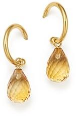Bloomingdale's Citrine Briolette Hoop Drop Earrings in 14K Yellow Gold - 100% Exclusive