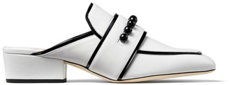 Jimmy Choo Yk-Bloafer Leather Mules