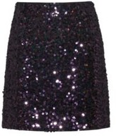 HUGO BOSS - Slim Fit Sequined Mini Skirt With Concealed Zipper - Red