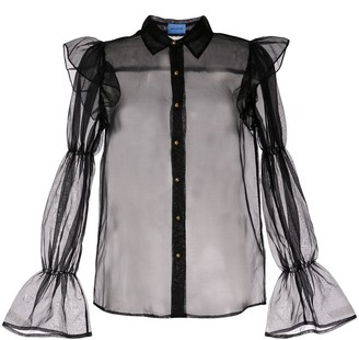 macgraw Souffle sheer blouse