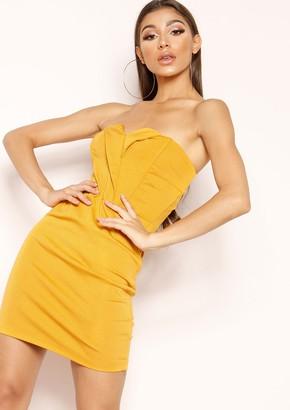 Ever New Lucinda Mustard V Bandeau Dress