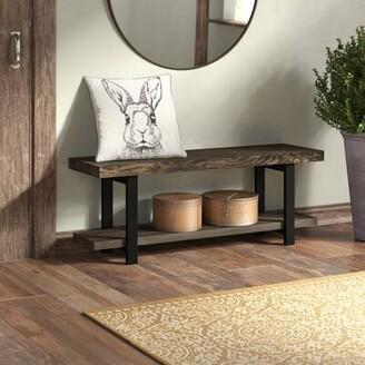 Trent Austin Design Thornhill Solid Wood Shelves Storage Bench Color: Natural