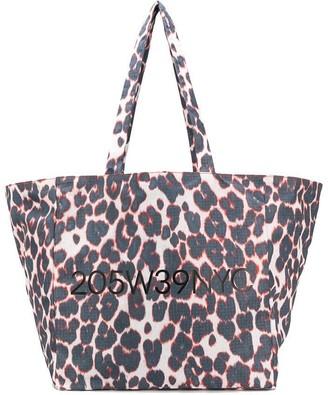 Calvin Klein leopard print tote bag