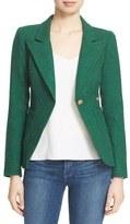 Smythe 'Duchess' Suede Trim Wool Blend Blazer