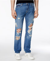 GUESS Men's Slim-Fit Ripped Tapered Jeans