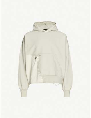 Val Kristopher Eroded cotton-jersey hoody