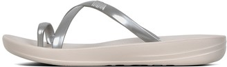 FitFlop iQUSHION Wave Pearlised Cross Slides
