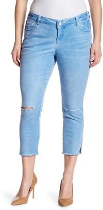 SLINK Jeans Frayed Hem Skinny Jeans