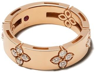 Roberto Coin 18kt rose gold diamond Love in Verona ring