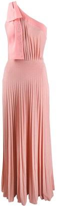 Elisabetta Franchi pleated maxi dress