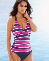 Soma Intimates Nautical Striped Halter Tankini Swim Top