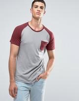 Ringspun Raglan Pocket T-shirt Withn Curved Hem
