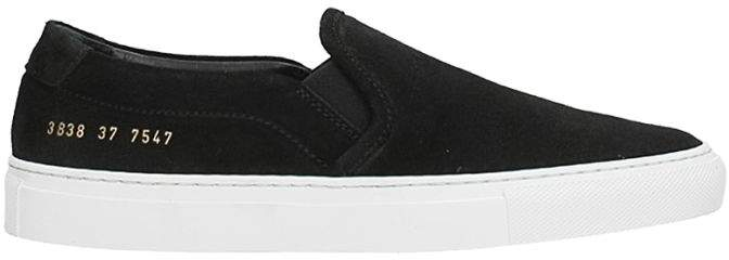 Common Projects Black Suede Sneakers
