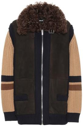 Miu Miu Suede and wool jacket