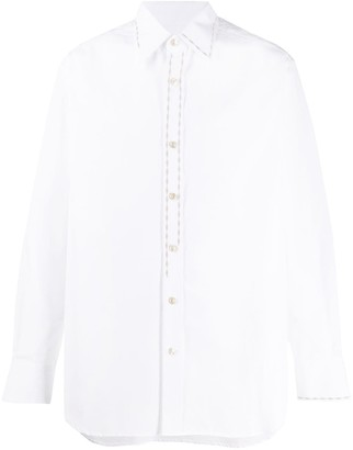 Marni Embroidered Detail Button Up Shirt