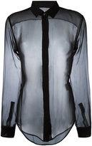 Saint Laurent transparent fitted shirt
