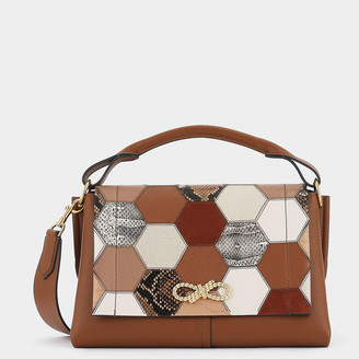 Anya Hindmarch Patchwork Rope Bow Bag