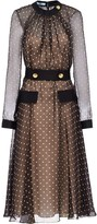 Prada semi-sheer polka dot dress