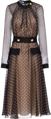 Prada semi-sheer polka dot dress