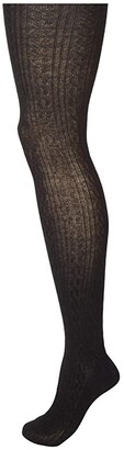 Hue Cable Sweater Tights (Black) Hose