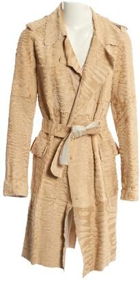 Lanvin Beige Astrakhan Coat for Women Vintage