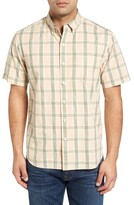 Tommy Bahama Men's Standard Fit Short Sleeve Plaid Sport Shirt