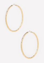 Bebe Fine Textured Hoop Earrings