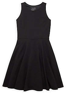 Un Deux Trois Girl's Sleeveless Fit & Flare Dress