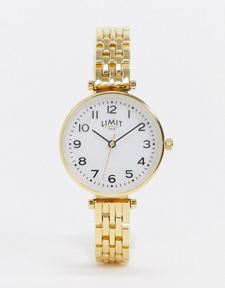 Limit bracelet watch in gold