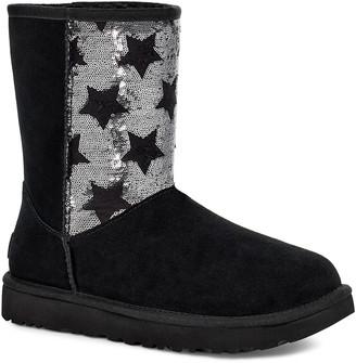 UGG Women's Casual boots BLACK - Black Sequin Star Classic Short Suede Boot - Women