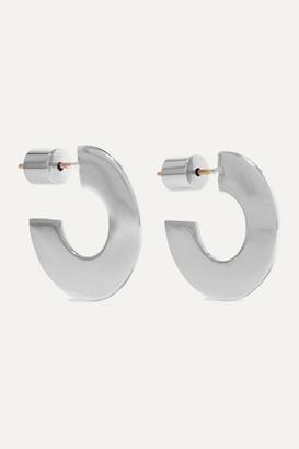 Jennifer Fisher Drew Huggies Silver-plated Hoop Earrings