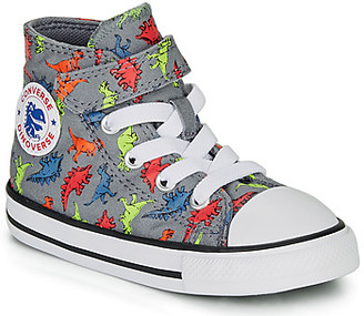 Converse CHUCK TAYLOR ALL STAR 1V DINOVERSE HI boys's Shoes (High-top Trainers) in Grey