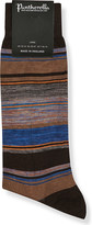 Pantherella Moxon striped cotton-blend socks