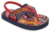 Disney Marvel Toddler Boys' Cars Flip Flop Sandals - Red