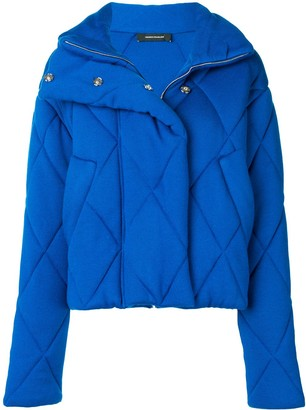 Cédric Charlier Quilted Oversized Jacket