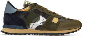 Valentino Khaki Garavani Camo Rockrunner Sneakers