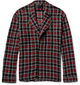 Haider Ackermann - Oversized Checked Wool, Cotton And Alpaca-blend Shirt Jacket