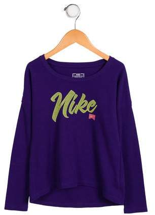 Nike Girls' Knit Logo Top
