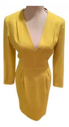Tamara Mellon Yellow Wool Dresses