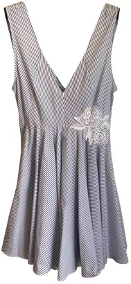 Sandro Spring Summer 2019 Blue Cotton Dress for Women
