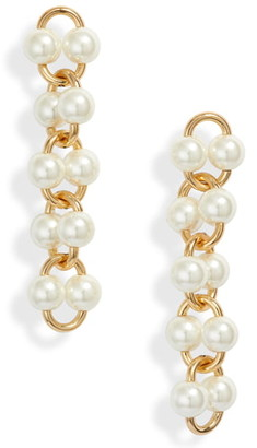 Kate Spade Nouveau Pearls Imitation Pearl Linear Earrings