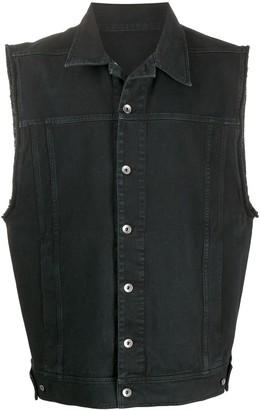 Rick Owens Oversized Denim Waistcoat